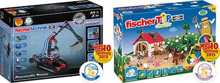 Bild:fischertechnik und fischer TiP für Spielzeugpreise nominiert