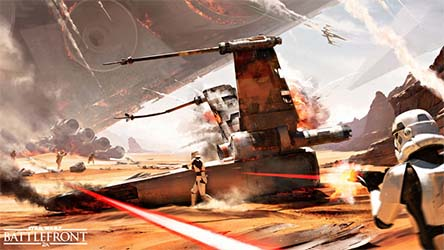 Bild:Erste Bilder der Schlacht von Jakku in Star Wars Battlefront
